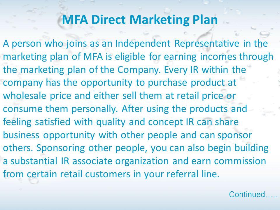 MFA Direct Marketing Plan