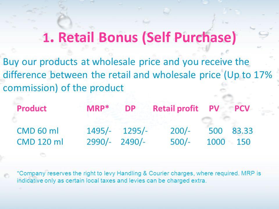 1. Retail Bonus (Self Purchase)