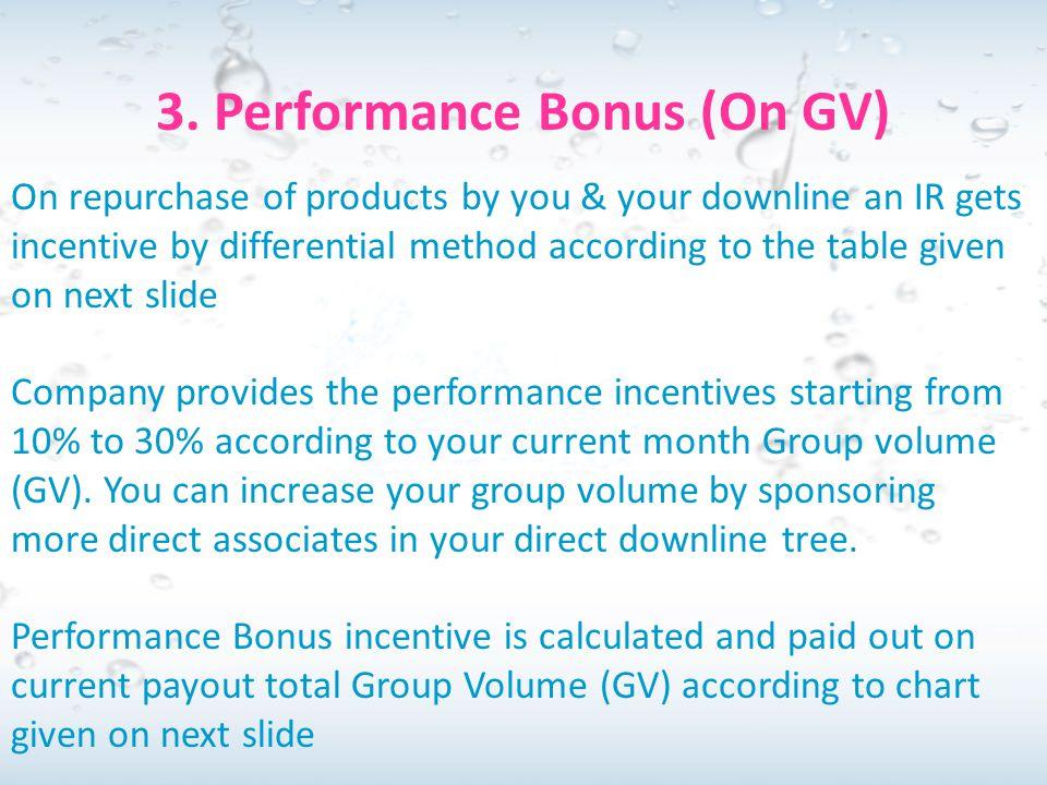 3. Performance Bonus (On GV)