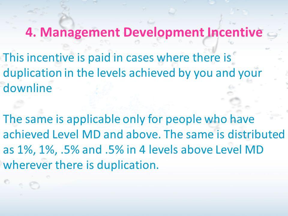 4. Management Development Incentive