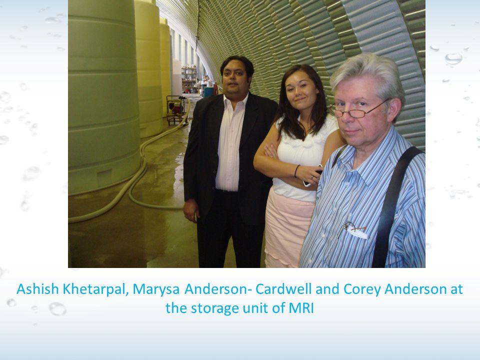 Ashish Khetarpal, Marysa Anderson- Cardwell and Corey Anderson at the storage unit of MRI