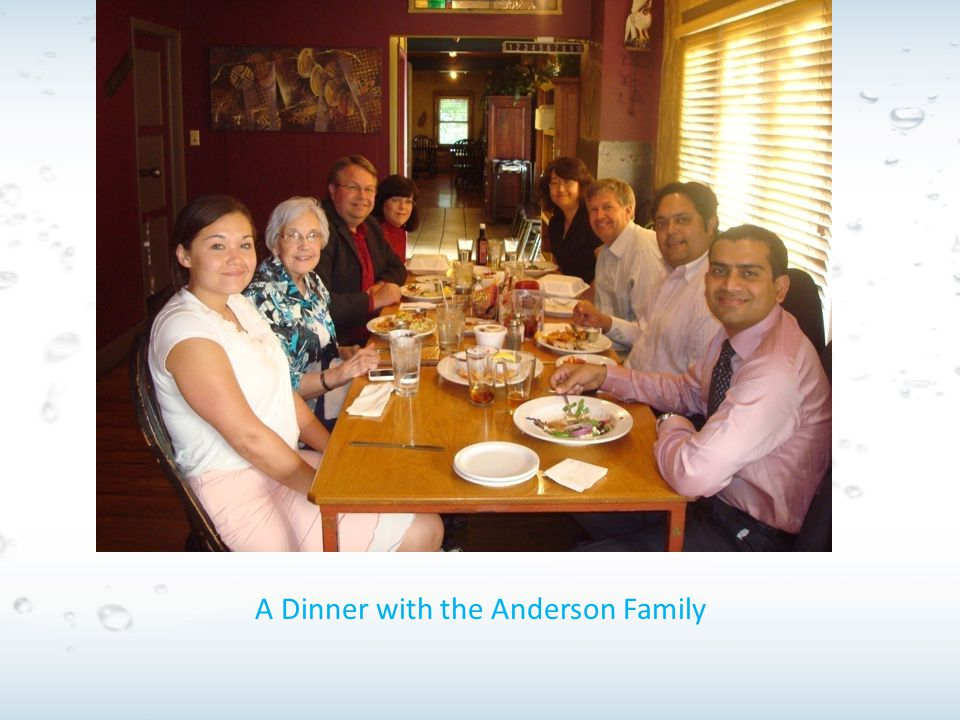 A Dinner with the Anderson Family