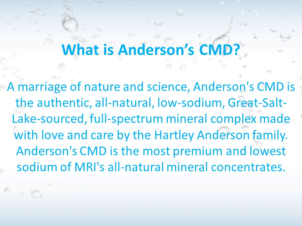 What is Anderson's CMD