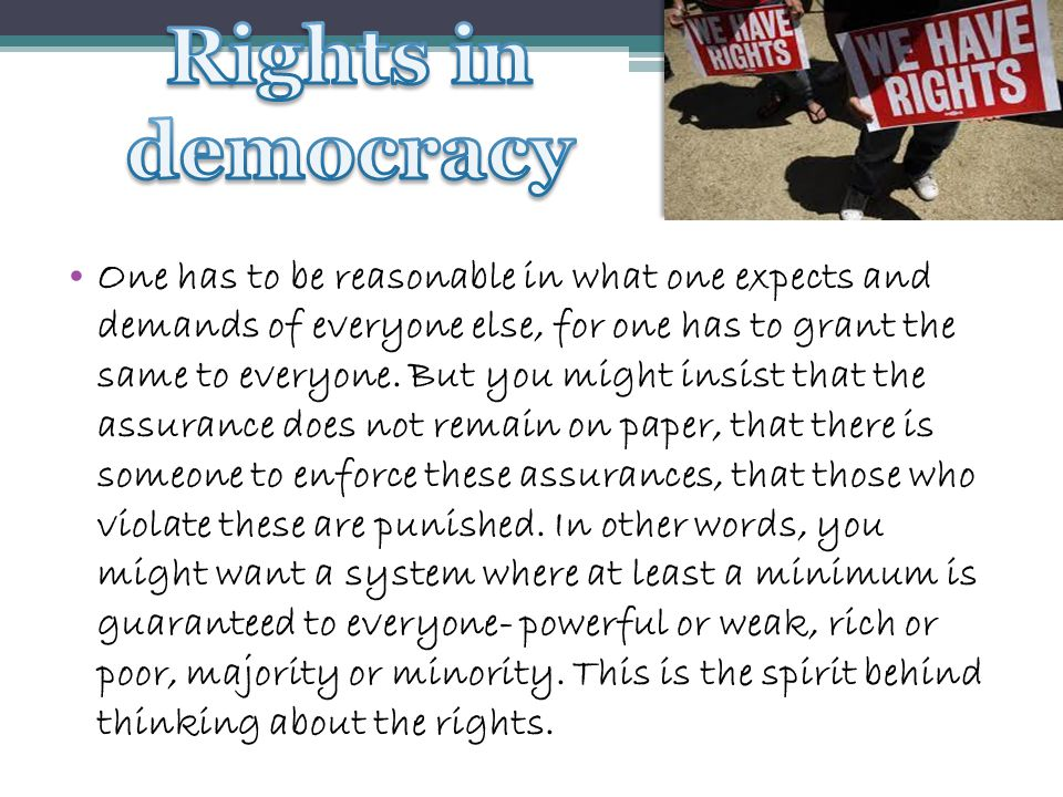 Rights in democracy