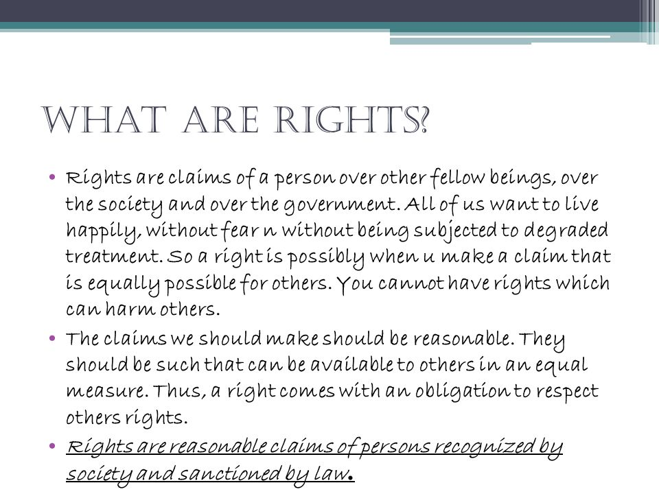 What are rights