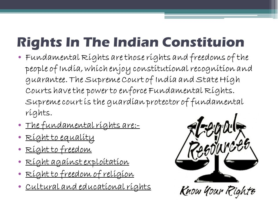 Rights In The Indian Constituion