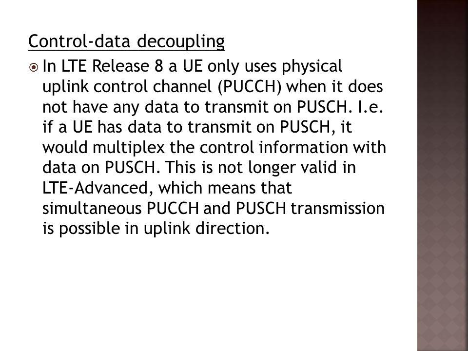 Control-data decoupling