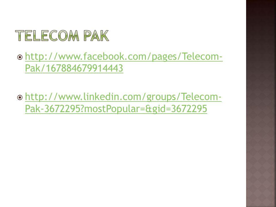 Telecom pak http://www.facebook.com/pages/Telecom- Pak/167884679914443