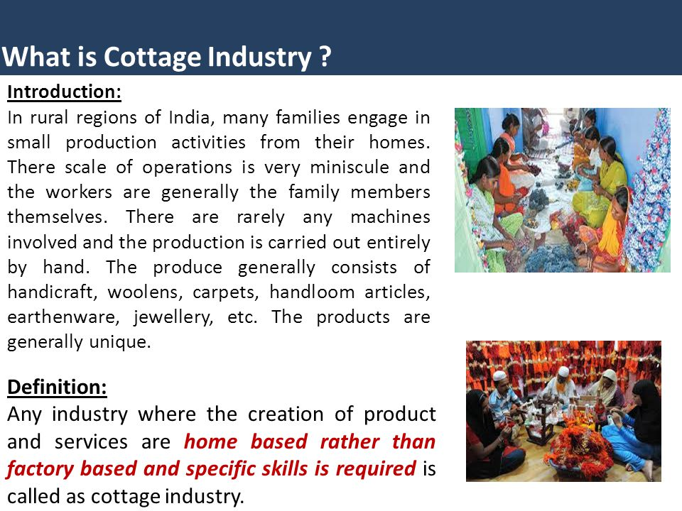 What Is Cottage Industry