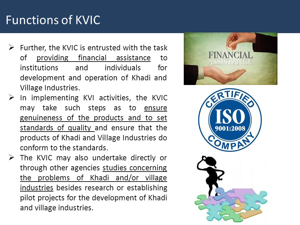 Functions of KVIC