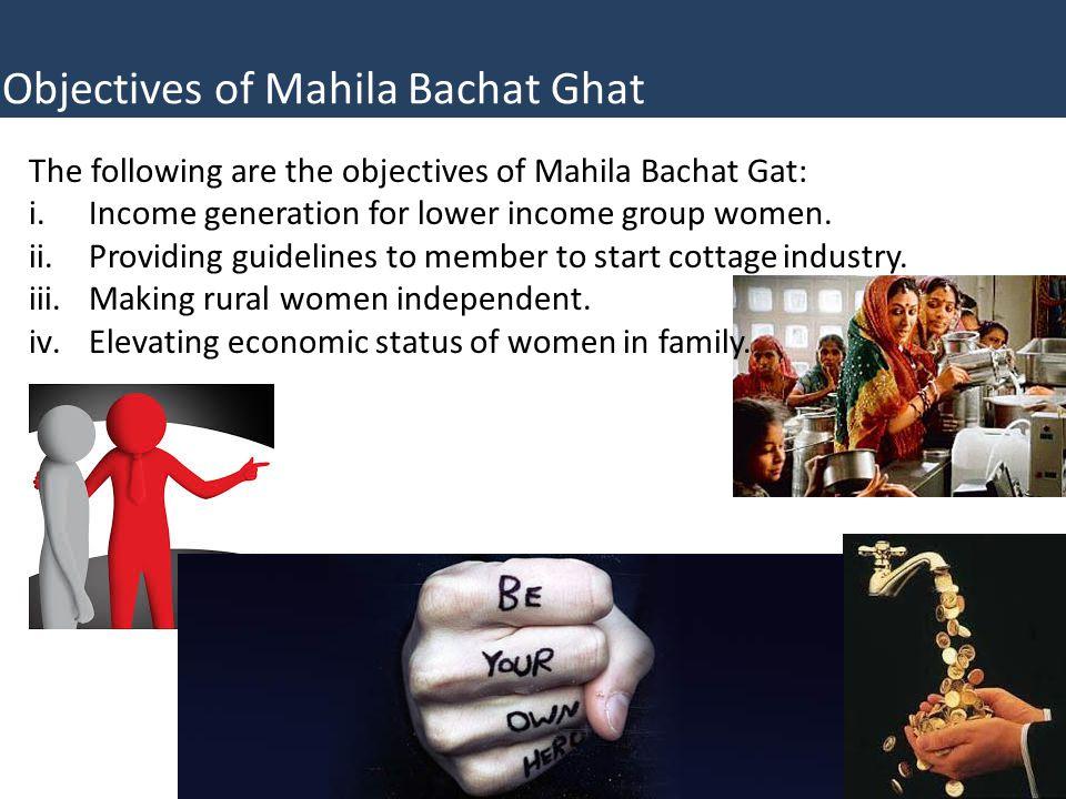 Objectives of Mahila Bachat Ghat