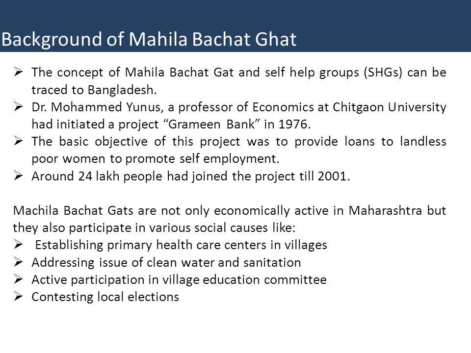 Background of Mahila Bachat Ghat