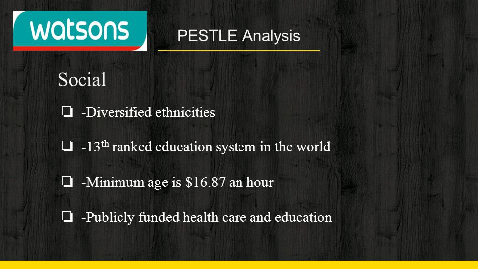 Social PESTLE Analysis -Diversified ethnicities