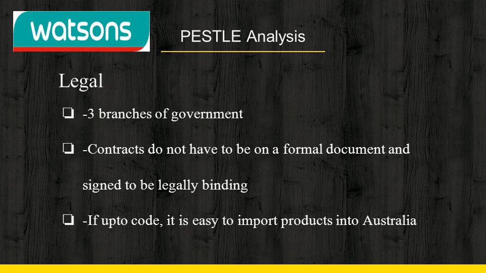 Legal PESTLE Analysis -3 branches of government