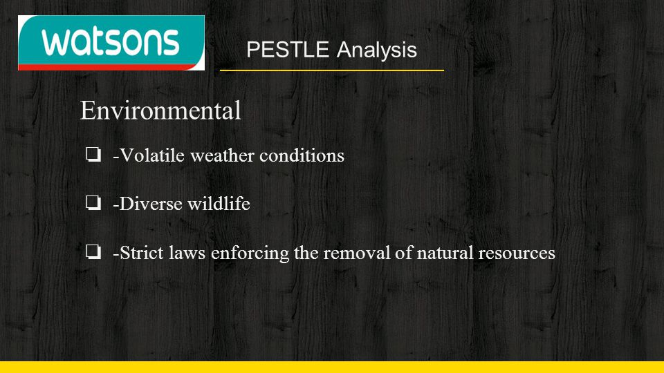 Environmental PESTLE Analysis -Volatile weather conditions