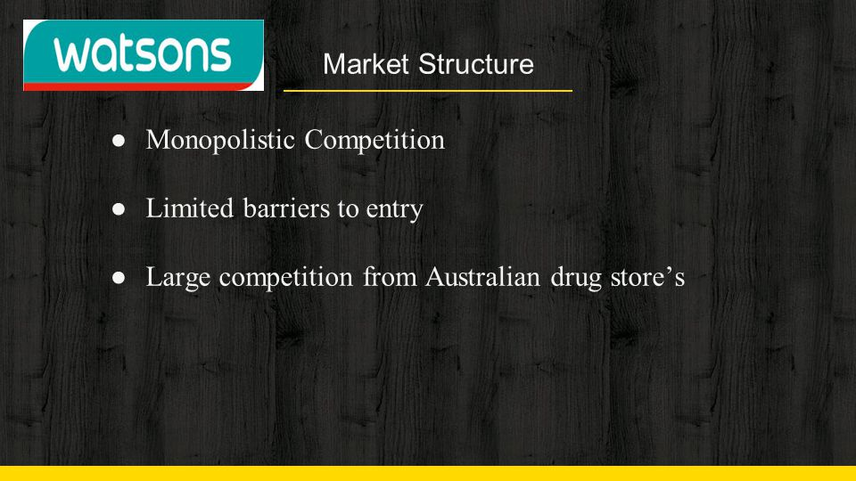 Market Structure Monopolistic Competition. Limited barriers to entry.