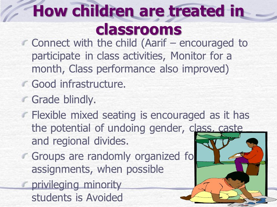 How children are treated in classrooms