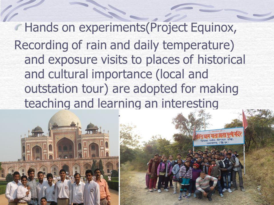 Hands on experiments(Project Equinox,