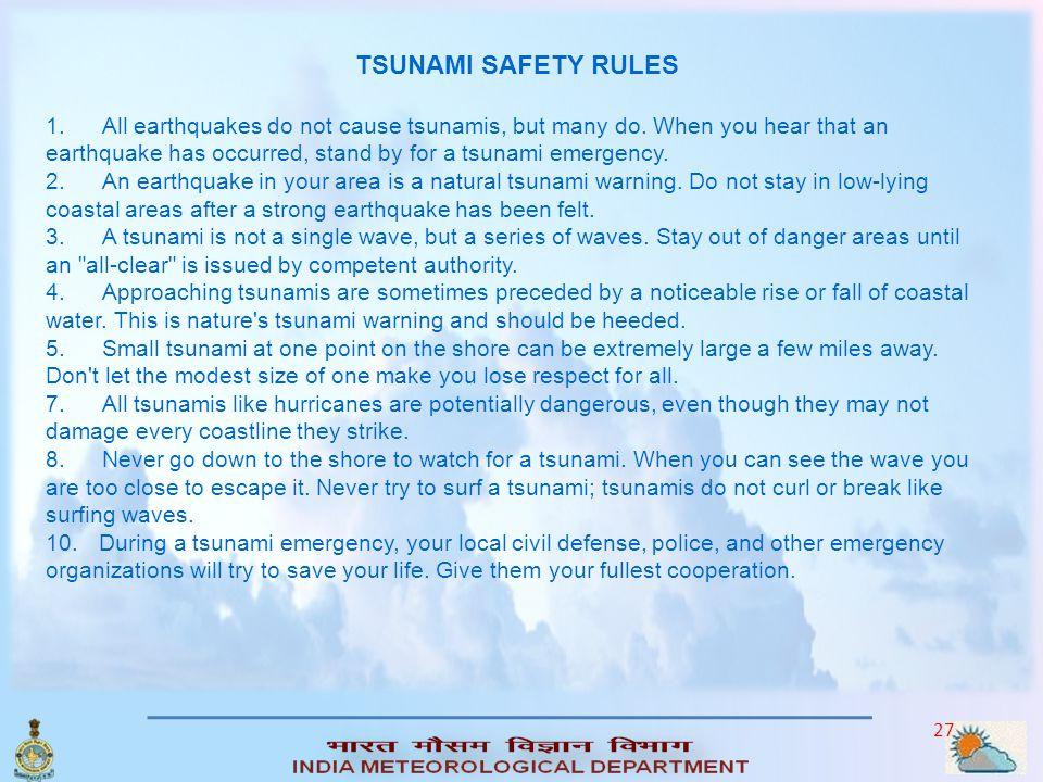 TSUNAMI SAFETY RULES