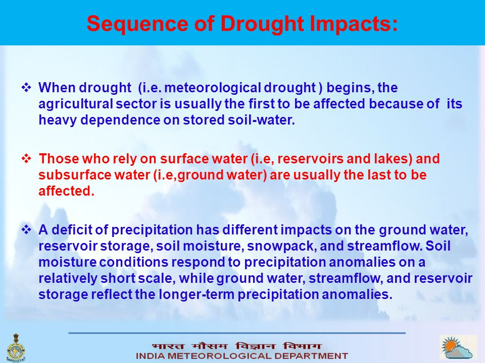 Sequence of Drought Impacts: