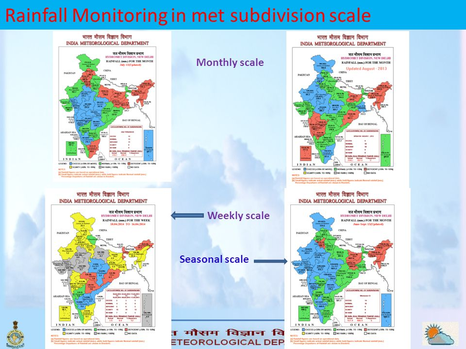 Rainfall Monitoring in met subdivision scale