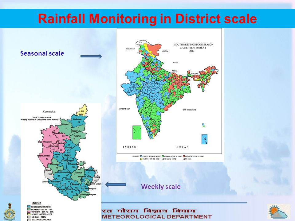 Rainfall Monitoring in District scale
