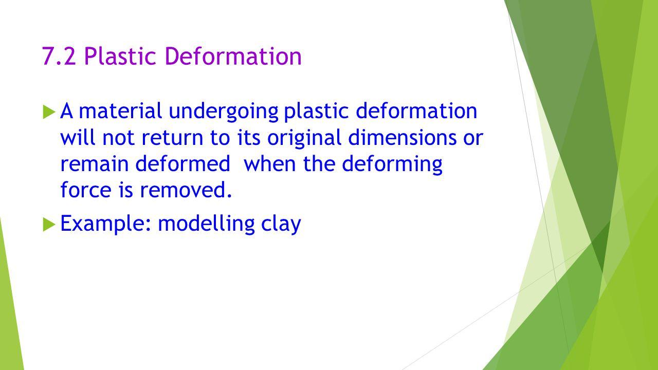 7.2 Plastic Deformation