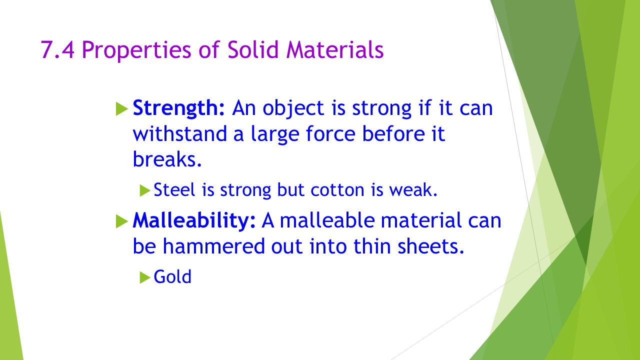7.4 Properties of Solid Materials