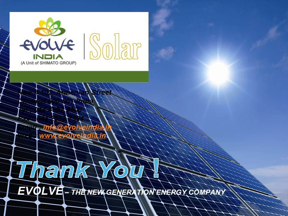 EVOLVE – THE NEW GENERATION ENERGY COMPANY