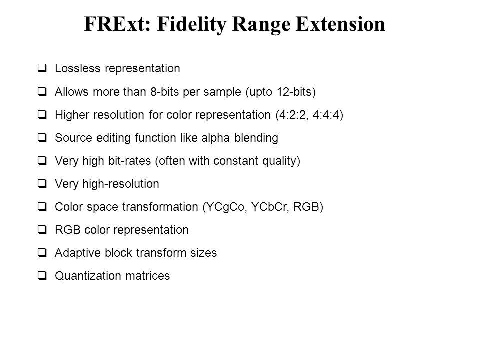 FRExt: Fidelity Range Extension