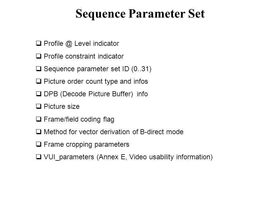 Sequence Parameter Set