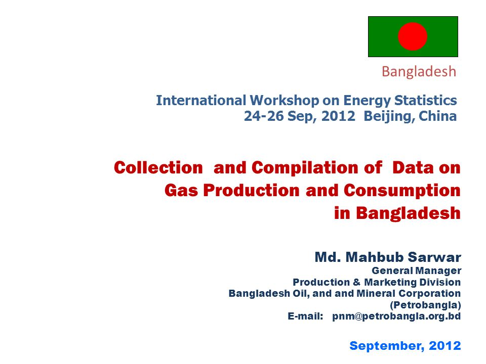 Gas Production and Consumption in Bangladesh