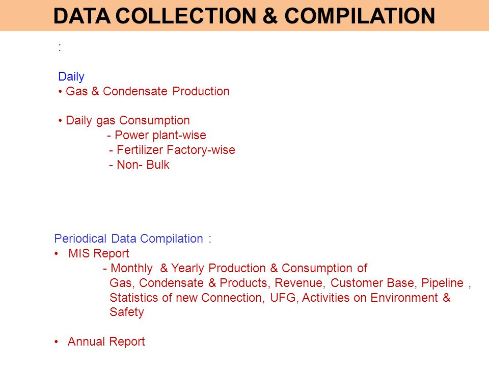 DATA COLLECTION & COMPILATION