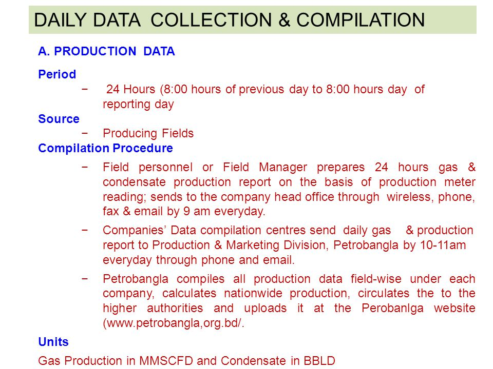 DAILY DATA COLLECTION & COMPILATION