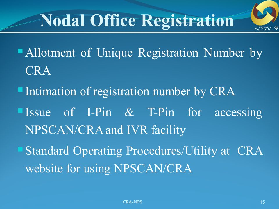 Nodal Office Registration
