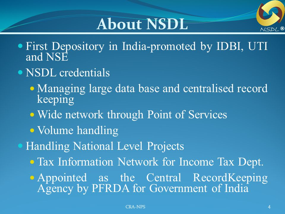 About NSDL First Depository in India-promoted by IDBI, UTI and NSE