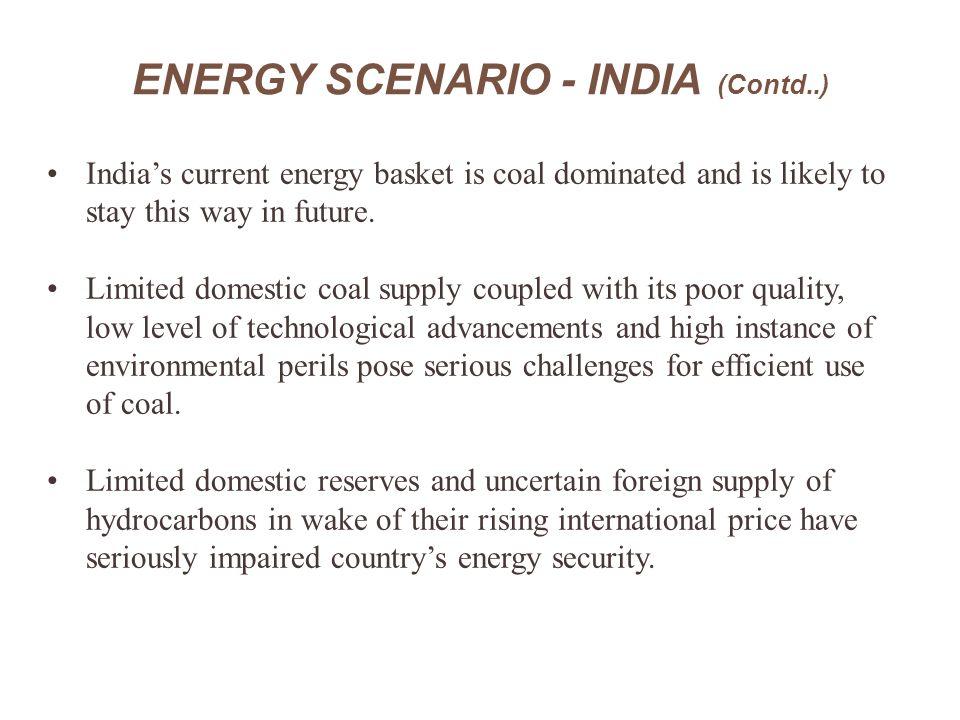 ENERGY SCENARIO - INDIA (Contd..)