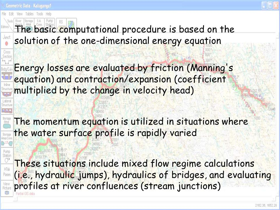 The basic computational procedure is based on the solution of the one-dimensional energy equation