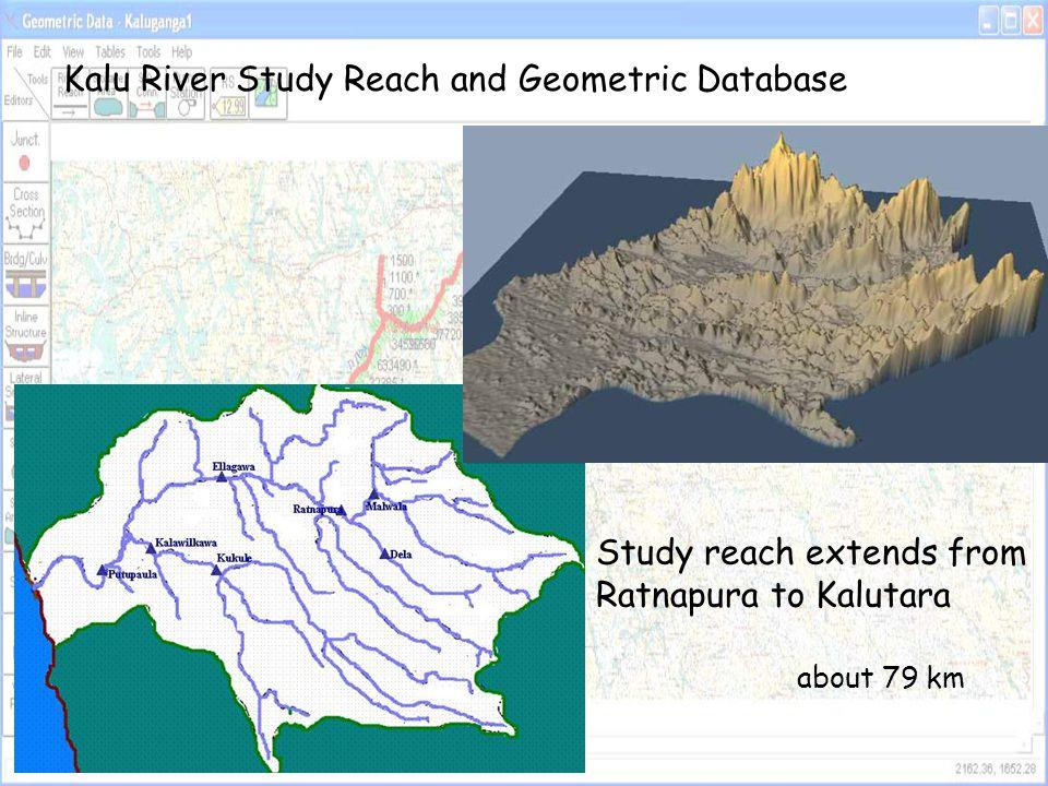Kalu River Study Reach and Geometric Database