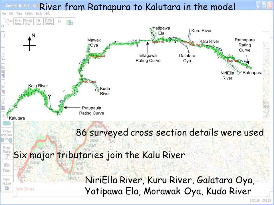 River from Ratnapura to Kalutara in the model