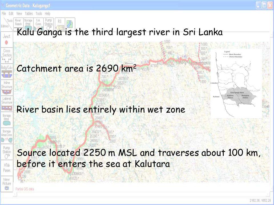 Kalu Ganga is the third largest river in Sri Lanka