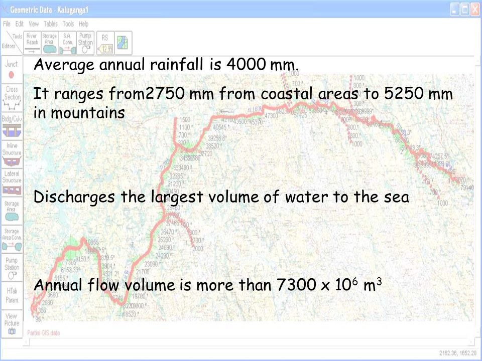 Average annual rainfall is 4000 mm.
