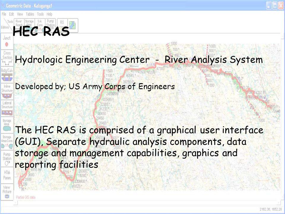 HEC RAS Hydrologic Engineering Center - River Analysis System