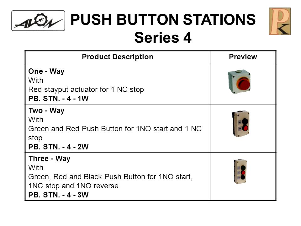 PUSH BUTTON STATIONS Series 4