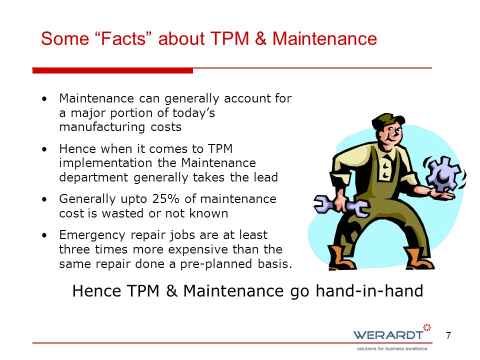Some Facts about TPM & Maintenance