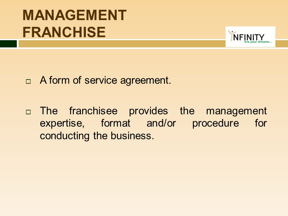 An Introduction To Infinity Retail Franchisee  Ppt Download