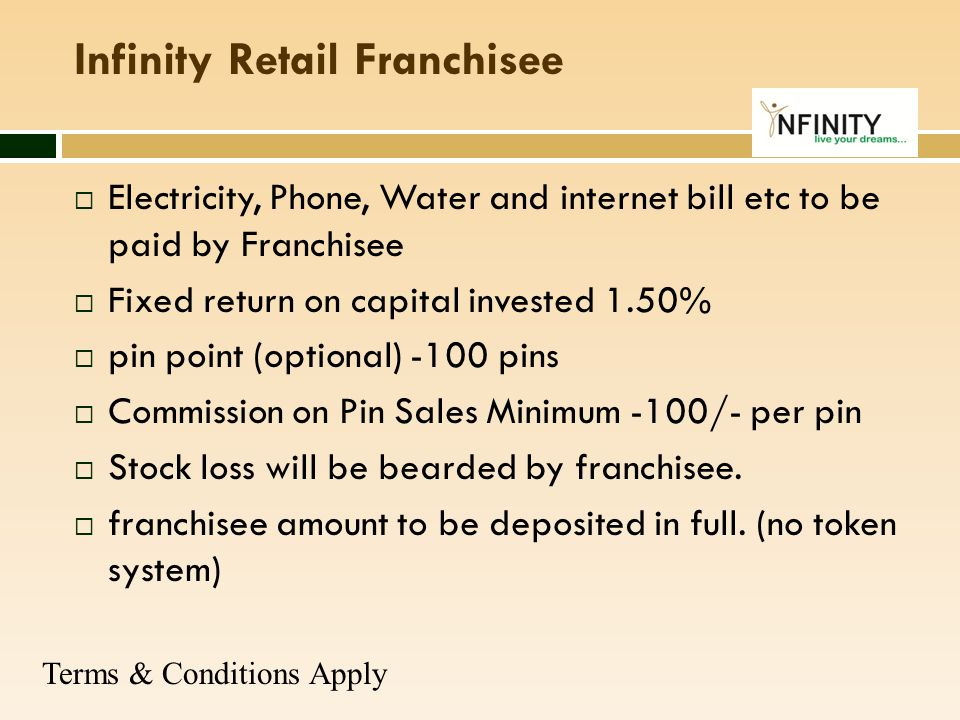 Infinity Retail Franchisee