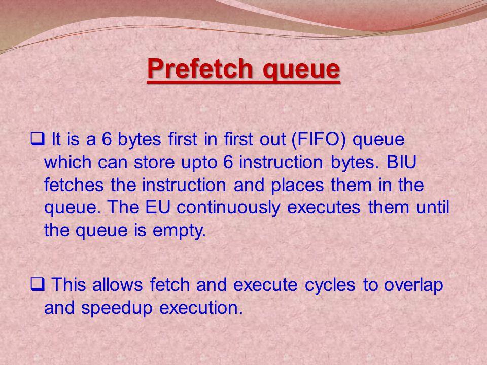 Prefetch queue
