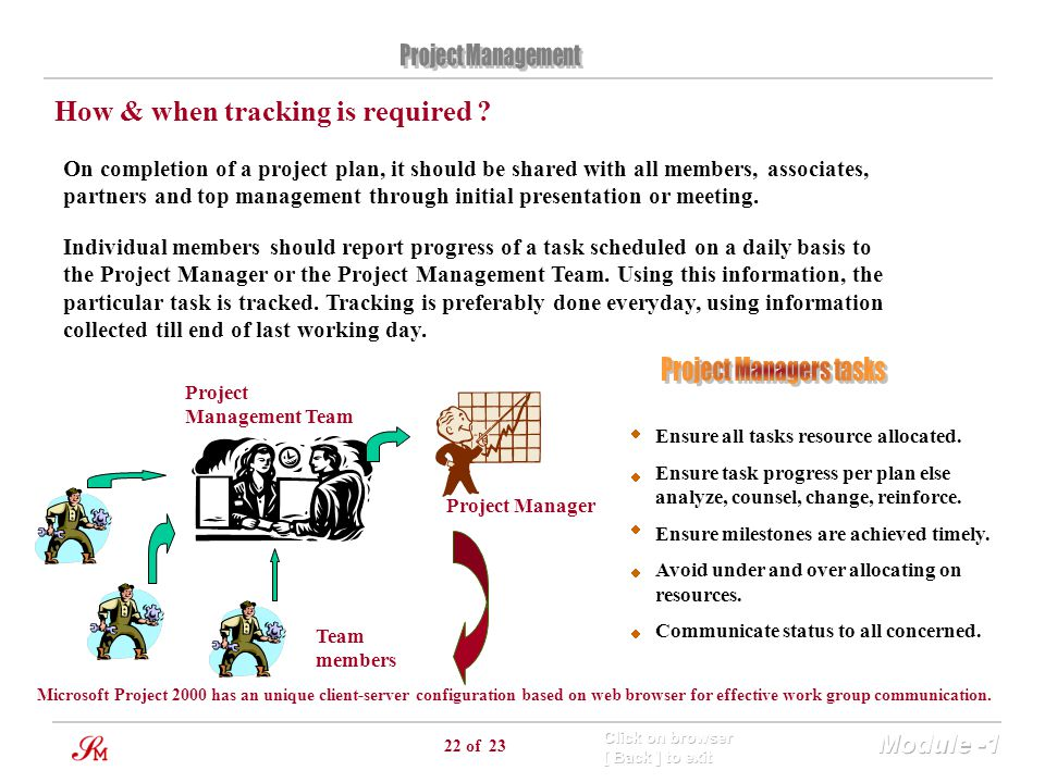 Project Managers tasks