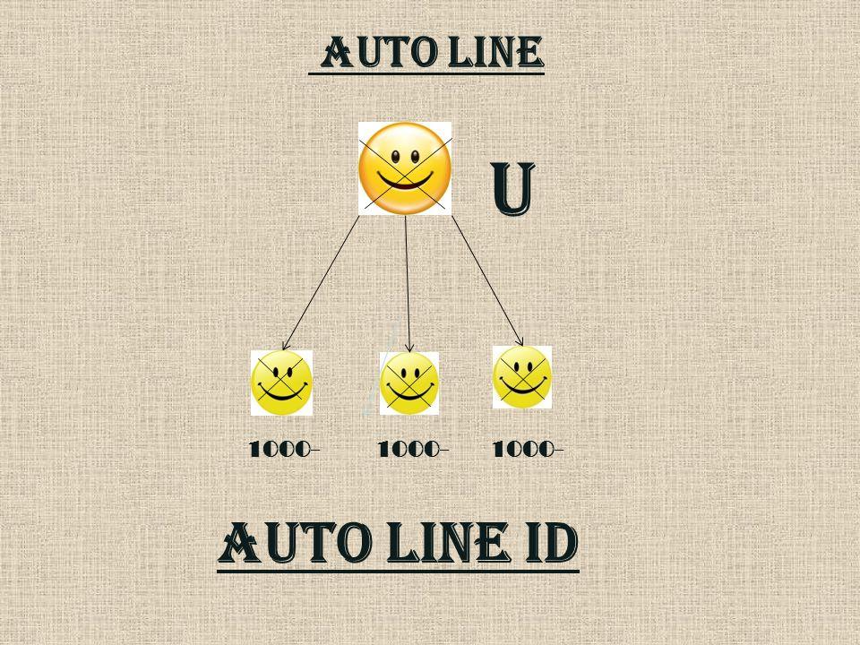 AUTO LINE U 1000- 1000- 1000- AUTO LINE id